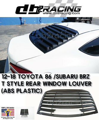 T-style Rear Window Louver Sun Shade Cover (abs) Fits 12-18 Brz Fr-s Toyota 86