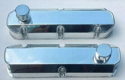 Ford Windsor 302/289/351w  Fabricated Tall Aluminium Valve Covers Breather Caps
