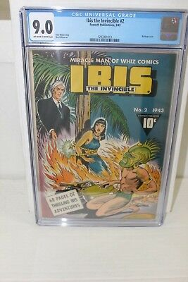 Ibis The Invincible #2 Cgc 9.0 Vf/nm (1943) Golden Age Bondage Cover Fawcett
