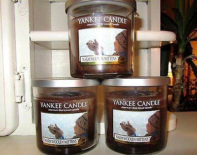 Set Of 3 Yankee Candle 7 Oz.retired My Favorite Things~warm Woolen Mittens~new