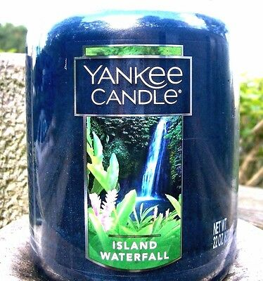 """Yankee Candle """"island Waterfall""""  Fresh Scented ~ White Label ~ 22 Oz.~ New!"""