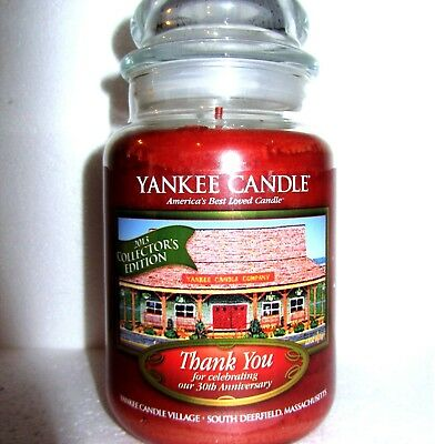 "Yankee Candle""thank You""~be Thankful~deerfield~30th Anniversary~large 22 Oz~rare"