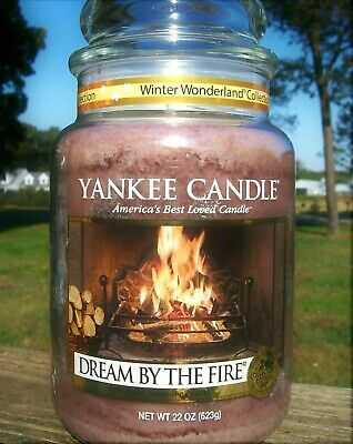 """Yankee Candle Winter Wonderland """"dream By The Fire"""" 22 Oz.~white Label~rare~new"""