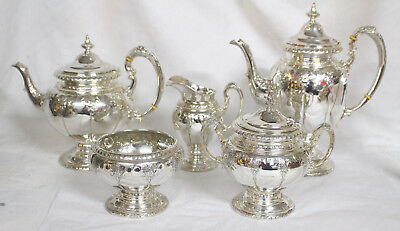 Towle Sterling Silver Royal Windsor Pattern 1935 Complete Tea Service 101oz