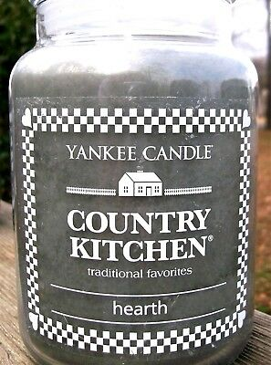 """Yankee Candle Retired Country Kitchen """"hearth""""~large 22 Oz~white Label~rare~ New"""