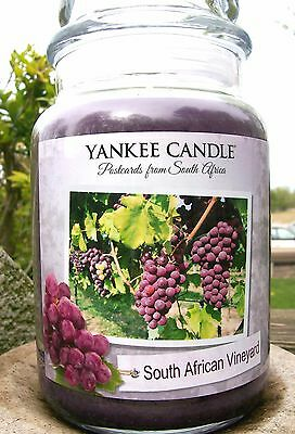 "Set Of 6 Yankee Candle ""south African Vineyard"" ~ White Label ~ Large 22 Oz.~new"