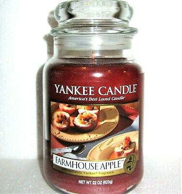 "Yankee Candle Retired ""farmhouse Apple""~ Large 22 Oz ~ White Label~  Rare ~ New"