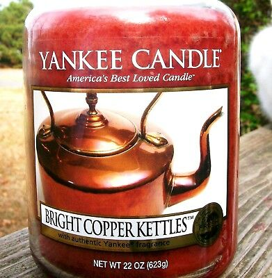 """Yankee Candle """"bright Copper Kettles""""~my Favorite Things~large 22 Oz~white Label"""