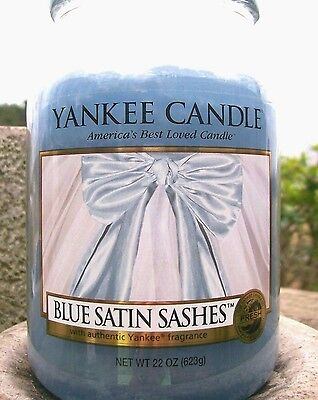 "Yankee Candle Retired 2011 ""blue Satin Sashes""my Favorite Things~large 22oz~rare"