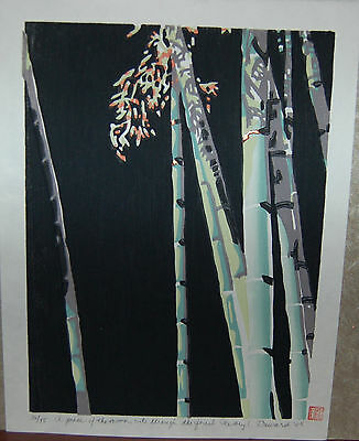 Daryl Howard Woodblock~2000~13.50x10.50~36/75~contemporary~bamboo Image~