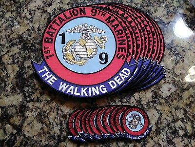 """Lot Of 10 1st Battalion 9th Marines The Walking Dead Jacket Patch 10"""""""