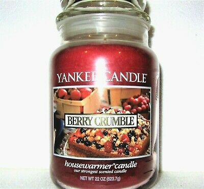 "Yankee Candle Retired ""berry Crumble""~ Large 22 Oz ~ White Label~ Rare~vhtf~ New"