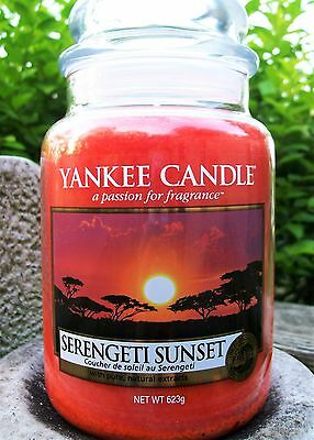 "Set Of 6 Yankee Candle ""serengeti Sunset""~european~ Large 22 Oz.~white Label~new"