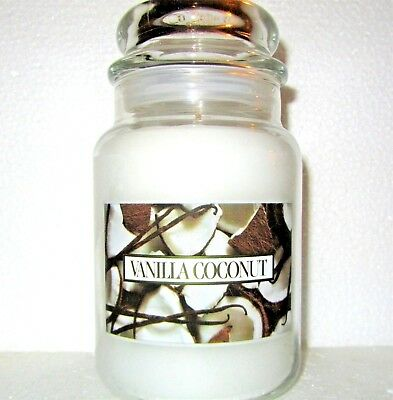 "Yankee Candle Retired ""vanilla Coconut""~ Large 22 Oz ~white Label~ Rare~vhtf~new"