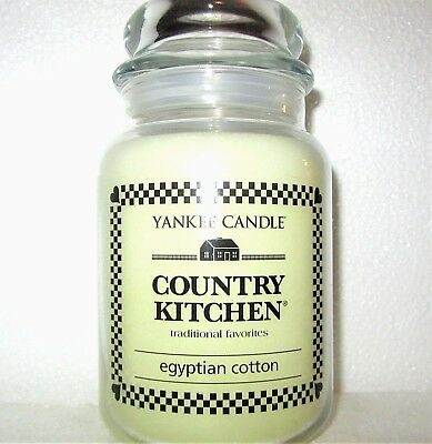 """Yankee Candle Retired Country Kitchen """"egyptian Cotton""""~ Large 22 Oz ~ Rare~new"""