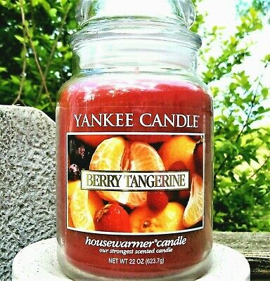 """Yankee Candle Retired """"berry Tangerine"""" ~ Large 22 Oz ~ White Label~ Rare ~ New"""