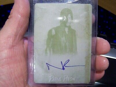 Walking Dead # 1/1 Autograph Auto Norman Reedus Daryl Printing Plate Survival