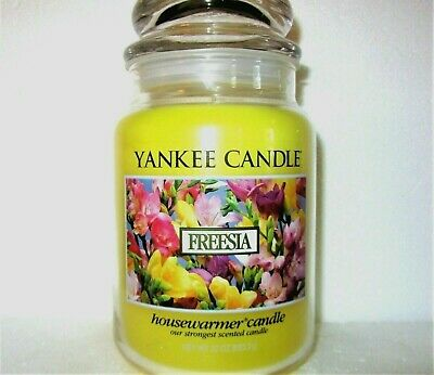 "Yankee Candle Retired ""freesia"" ~deerfield ~ Large 22 Oz.~ White Label~ Rare~new"