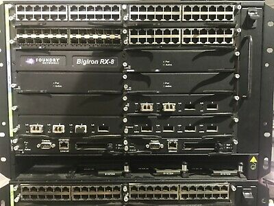 Brocade Foundry Big Iron Switch Chassis + Many I/o Cards