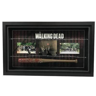 The Walking Dead Jeffrey Morgan Hand Signed Framed Photo Baseball Bat