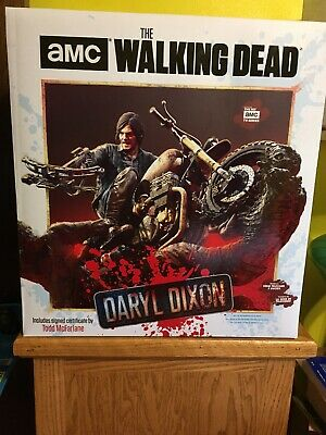 Amc The Walking Dead Unopened..nib! Daryl Dixon And Chopper Resin Statue By Tmp.