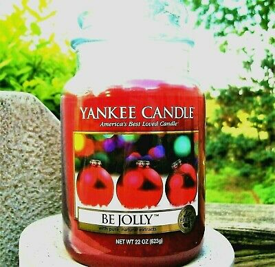 "Yankee Candle Retired ""be Jolly"" Festive ~ Large 22 Oz ~ White Label~ Rare ~ New"