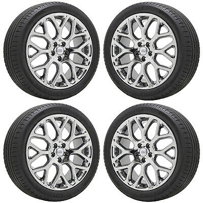 """19"""" Ford Fusion Lincoln Mkz Pvd Chrome Wheels Rims Tires Factory Oem Set - 3963"""