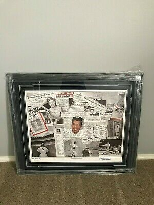 """Joe Dimaggio """"yankee Clipper"""" Autographed Signed Lithograph *limited Edition 56*"""