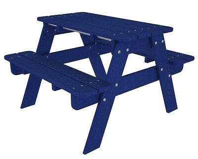 Polywood Kids Picnic Table In Pacific Blue Kt130pb Picnic Table New