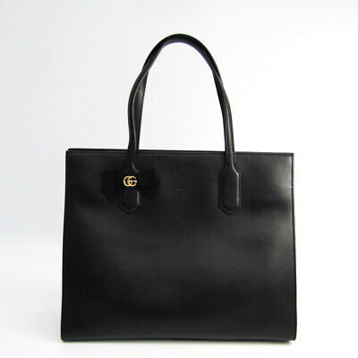 gucci gg ribbon japan only 440,055 leather tote bag black (116277