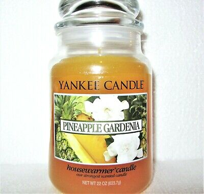 "Yankee Candle Retired ""pineapple Gardenia""~ Large 22 Oz ~white Label~ Rare~ New"