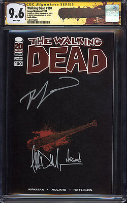 Walking Dead #100 (lucille Variant) Cgc 9.6 Ss / Signed By Kirkman