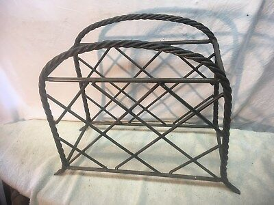 Unique Heavy Cast Iron Metal Wire  Wine Rack Stand Rolling Pin Holder