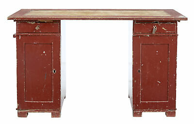 19th Century Rustic Painted Swedish Pedestal Desk