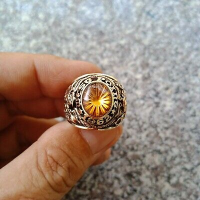 Us Military Academy West Point Rings 1962 Gold 10k Citrine Stone Size 9