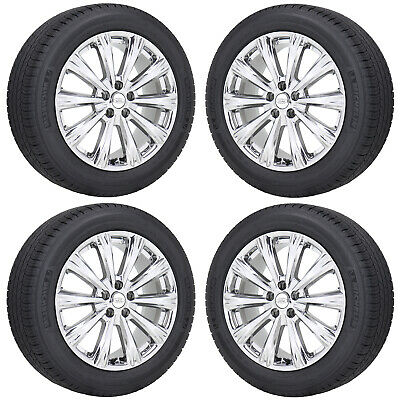 """18"""" Ford Escape Lincoln Mkc Pvd Chrome Wheels Rims Tires Factory Oem Set - 10110"""
