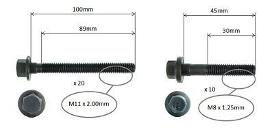 Cylinder Head Bolt Set For Holden Commodore Ss Vy Utility 02-04 5.7l Ls1 Geniii