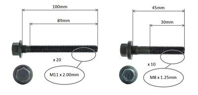 Cylinder Head Bolt Set For Holden Commodore Ss Ss Thunder Vz Utility 05-07 6.0l