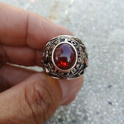 Us Military Academy West Point Rings 1978 Gold 10k Ruby Stone Size 13