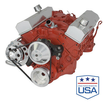 Small Block Chevy V-belt Kit Alternator Only Long Water Pump Lwp Sbc 283 305