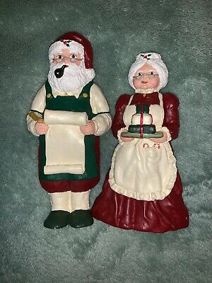Mr & Mrs Santa Claus  Figurines By Mary Day Vintage! 1987 Rare!