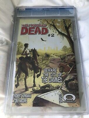 The Walking Dead #1 (nov 2003) Cgc 9.6 1st Print Rare Black Comic Mint Original