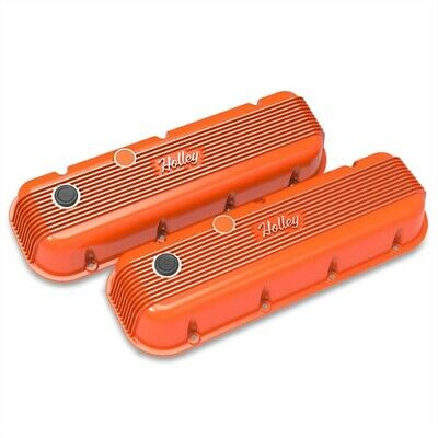 Holley 241-304 Vintage Series Finned Valve Covers Big Block Chevy Perimeter Bolt