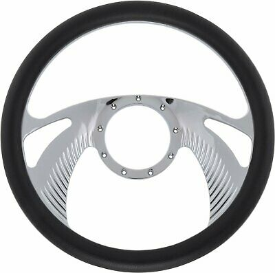 Jegs Performance Products 70428 Chrome-plated Billet Aluminum 14 Steering Wheel