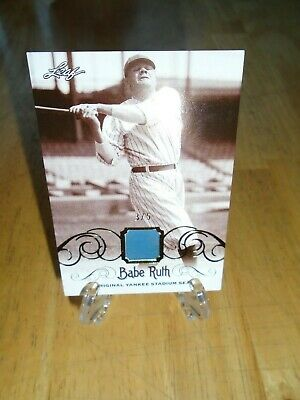 Babe Ruth  2016 Leaf Collection Original Yankee Stadium  # 3/5 Seat Memorabilia