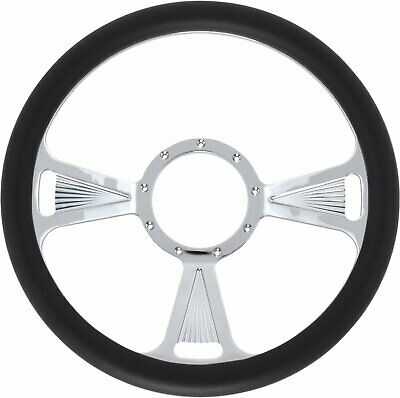 Jegs Performance Products 70423 Chrome-plated Billet Aluminum 14 Steering Wheel