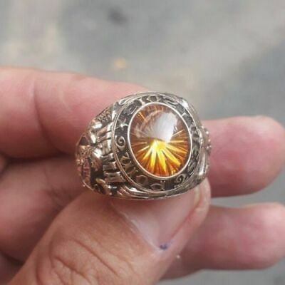 Us Military Academy West Point Rings 2013 Gold 10k Citrine Stone Size 13
