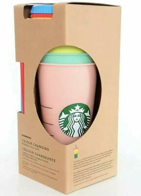 Starbucks Reusable Color Changing Cold Cup Collection Pack Of 5 W/lids Straws 24