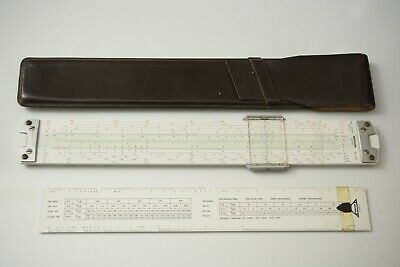 Nestler 0292 Multimath Duplex. Top-of-the-line Slide Rule. 28 Scales. Nice!