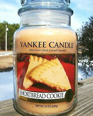 """Yankee Candle Retired """"shortbread Cookie""""~food~large 22 Oz ~white Label~rare~new"""